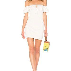 LPA Smocked Puff Sleeve Dress